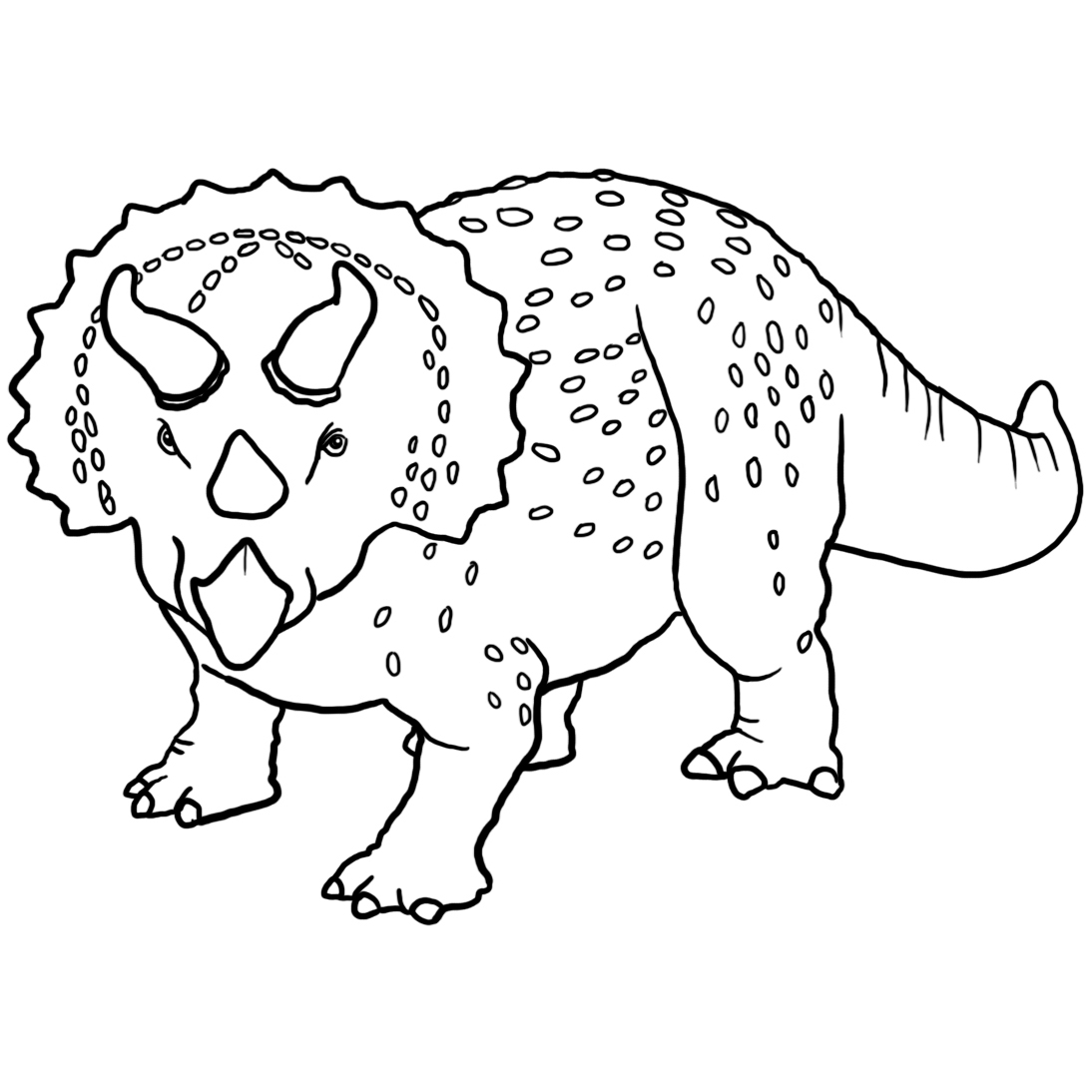 Triceraptor coloring page