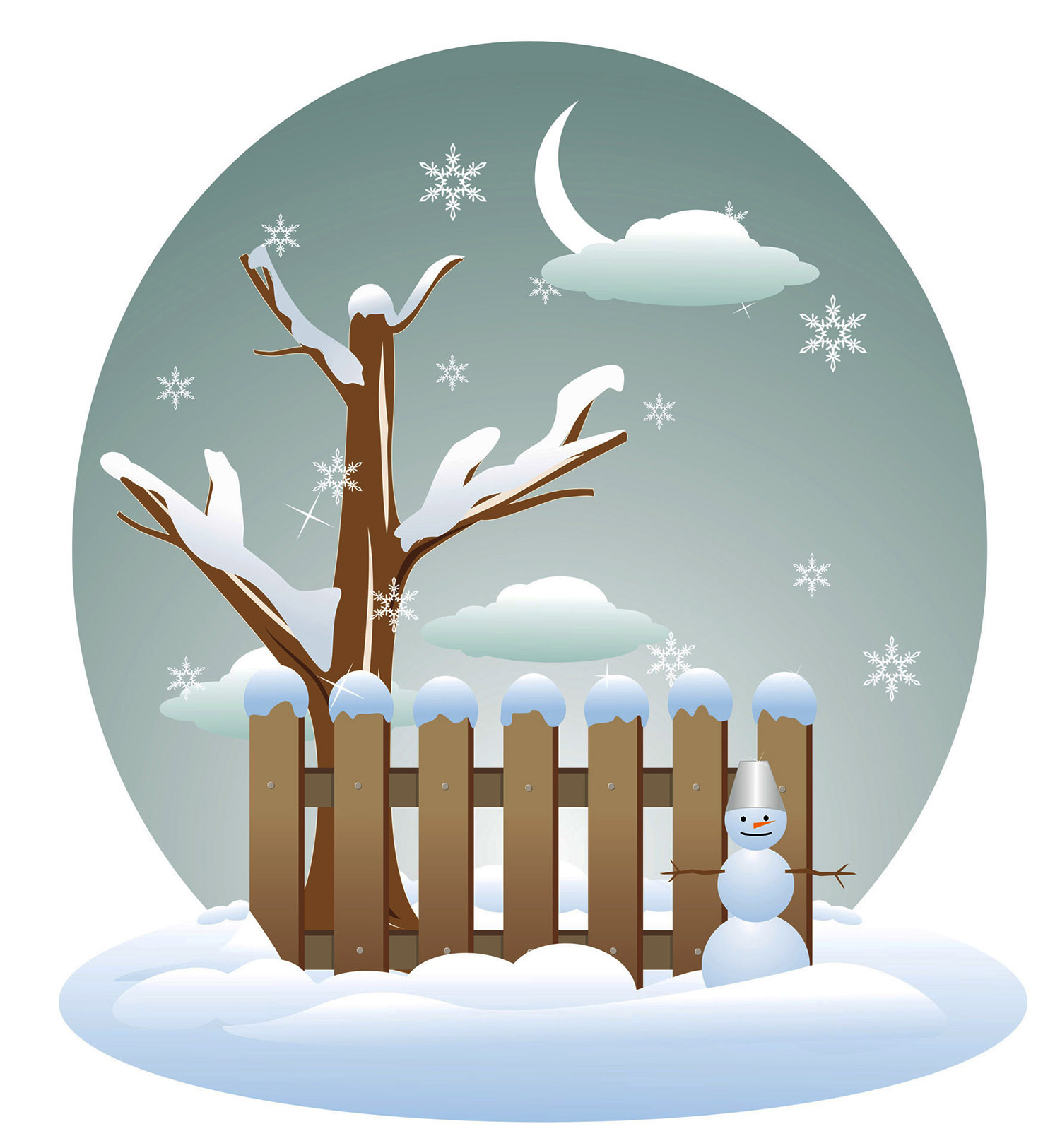 seasons of the year winter clipart