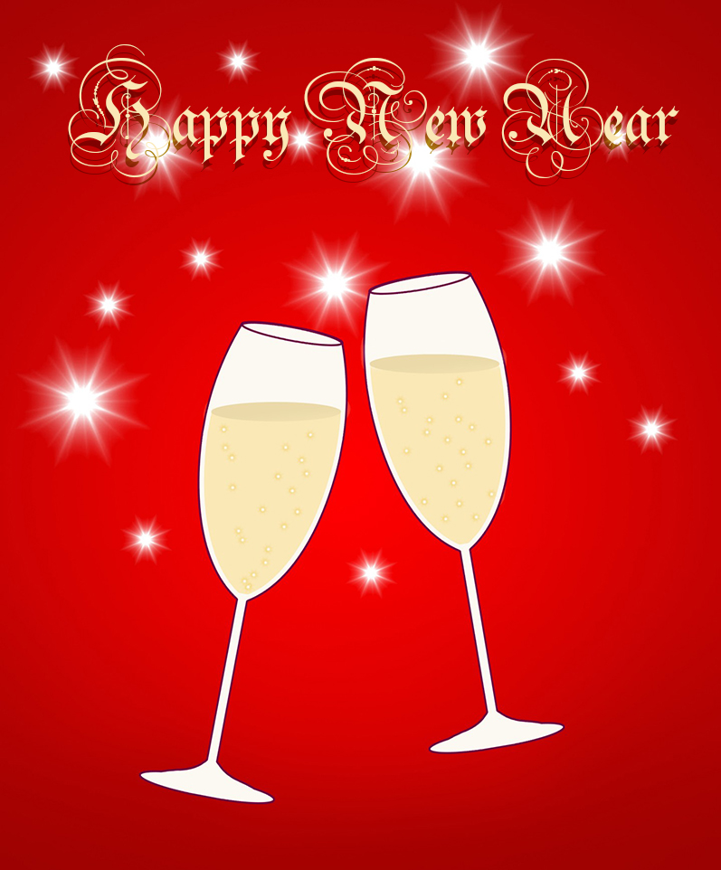 New Year greeting clipart