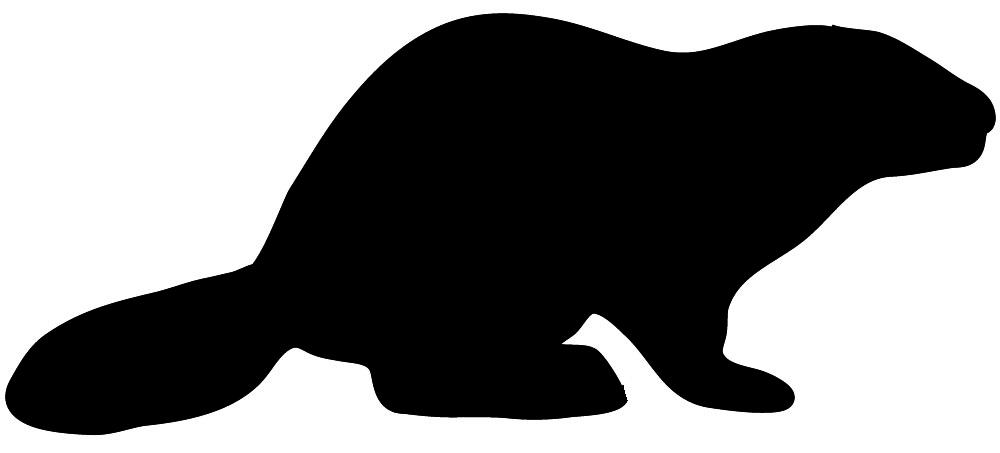 animal silhouette of beaver