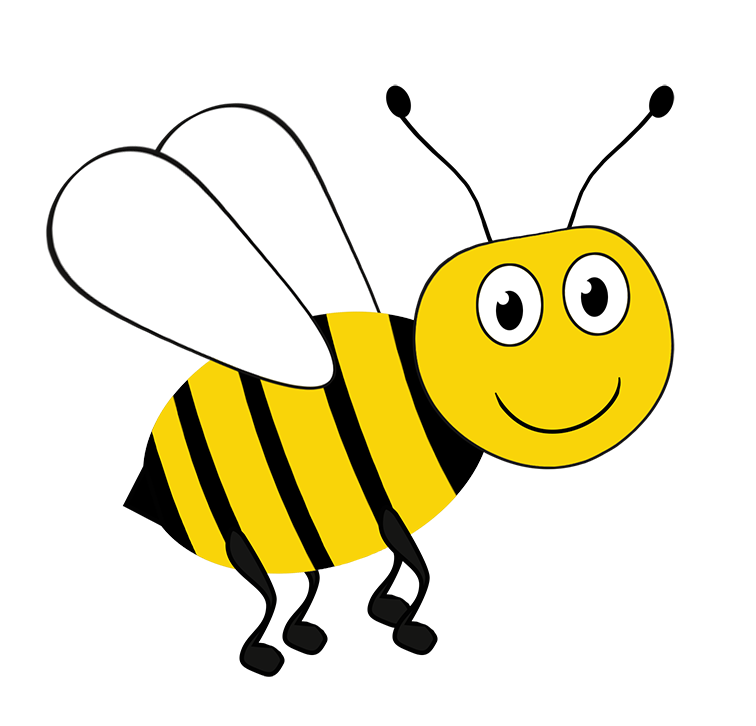 bee drawing clipart
