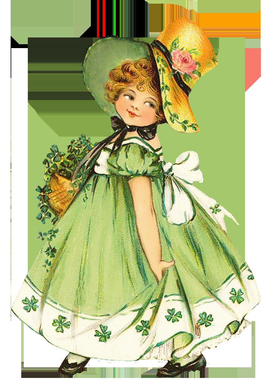 vintage St. Patrick's day girl