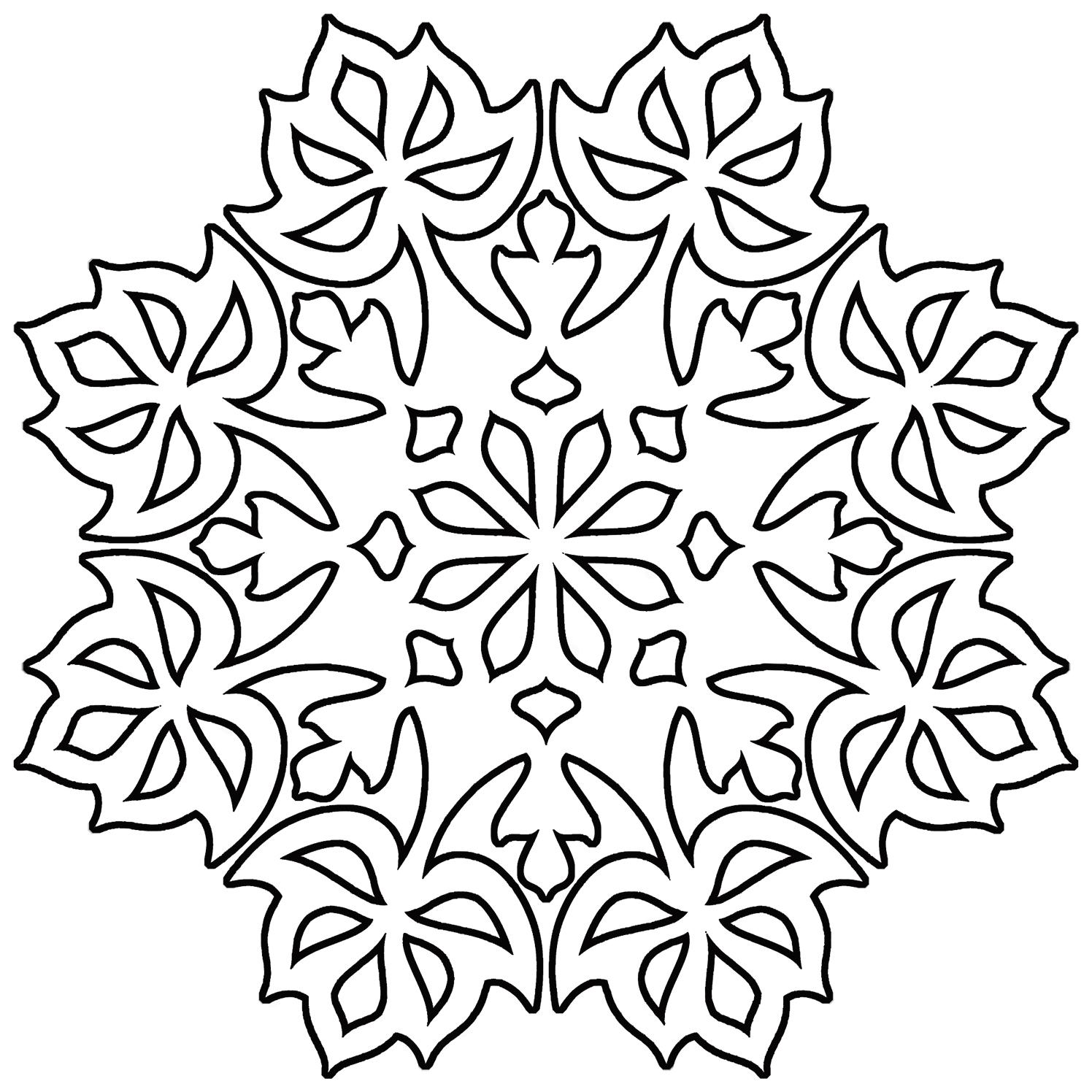 Christmas coloring page like mandala