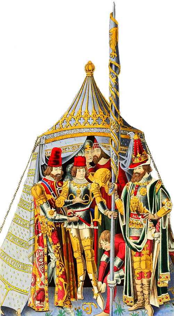 Recieving knighthood medieval