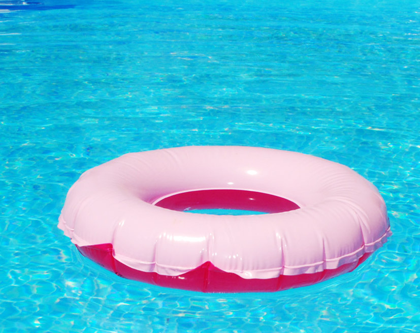 bathing ring in pool
