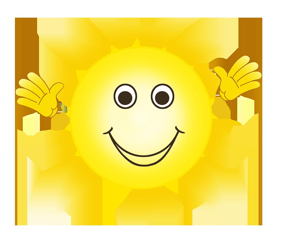 Happy sun smiling clip art