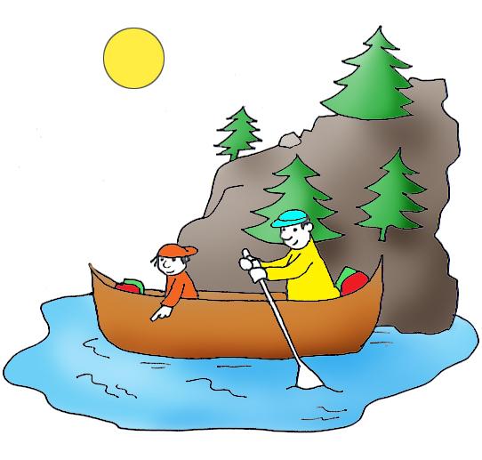 summer clip art canoe