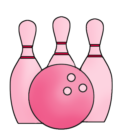 pink bowling icon