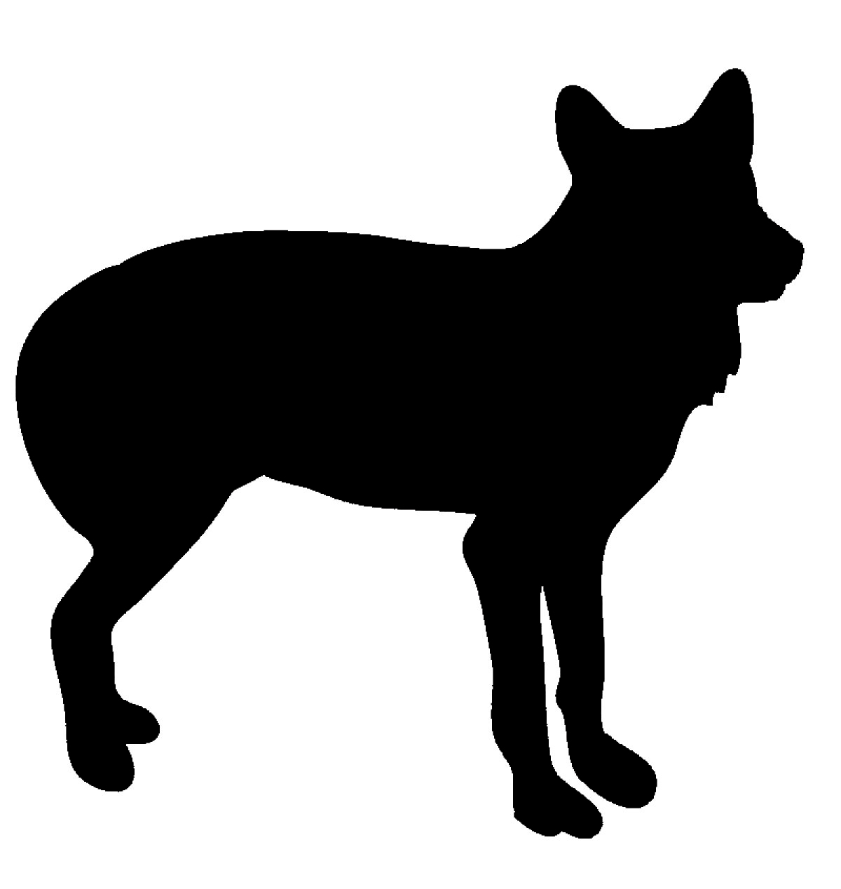 Black silhouette of wolf