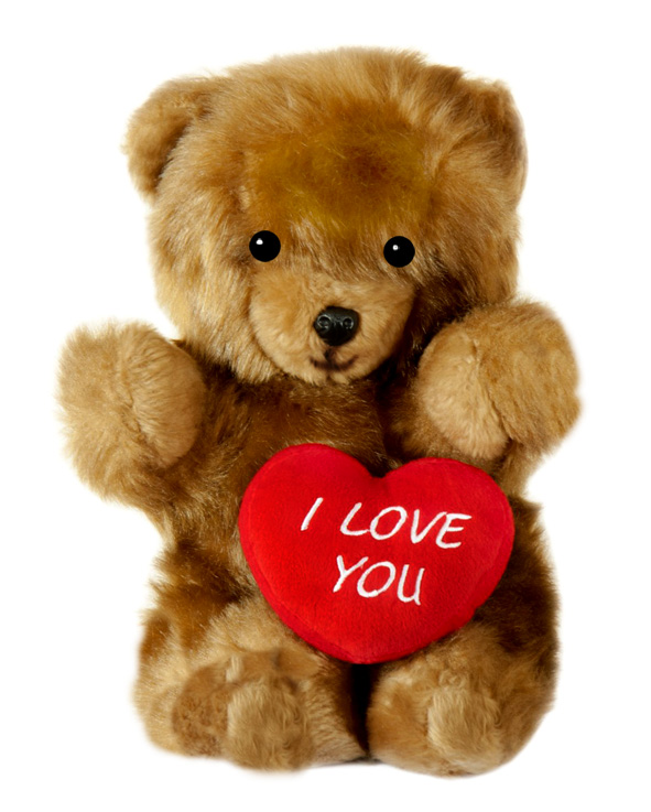 teddy bear with red heart I love you
