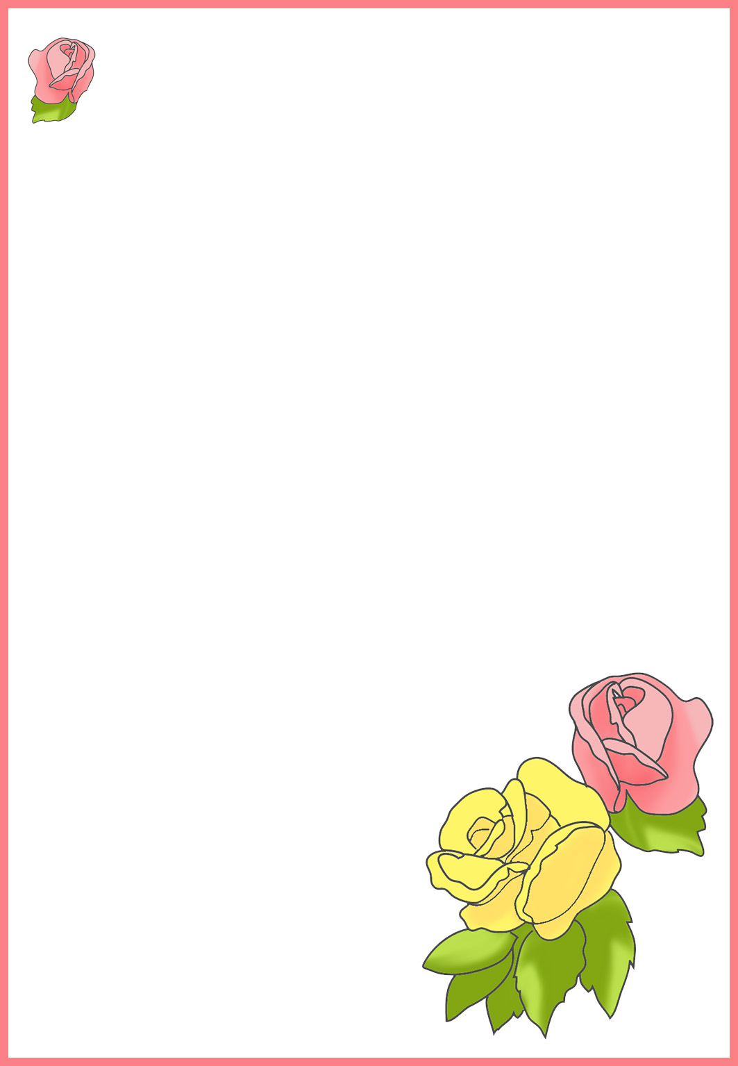 blank New Year card for personal writing