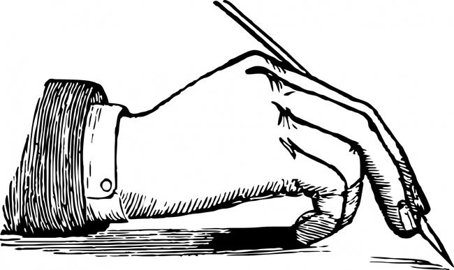 victorian hand clipart
