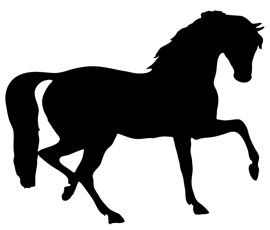 horse silhouette clipart