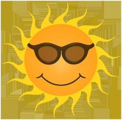 orange sun clipart smiling sunglasses