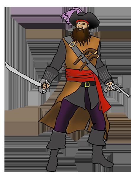 pirate blackbeard clipart