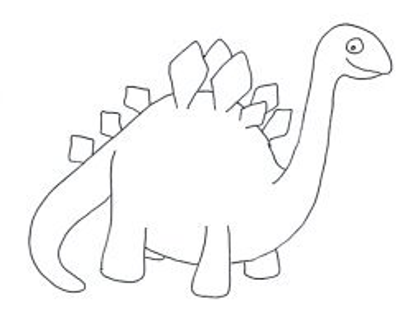 hard skeleton dinosaur clip art