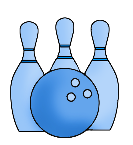 blue bowling ball and cones