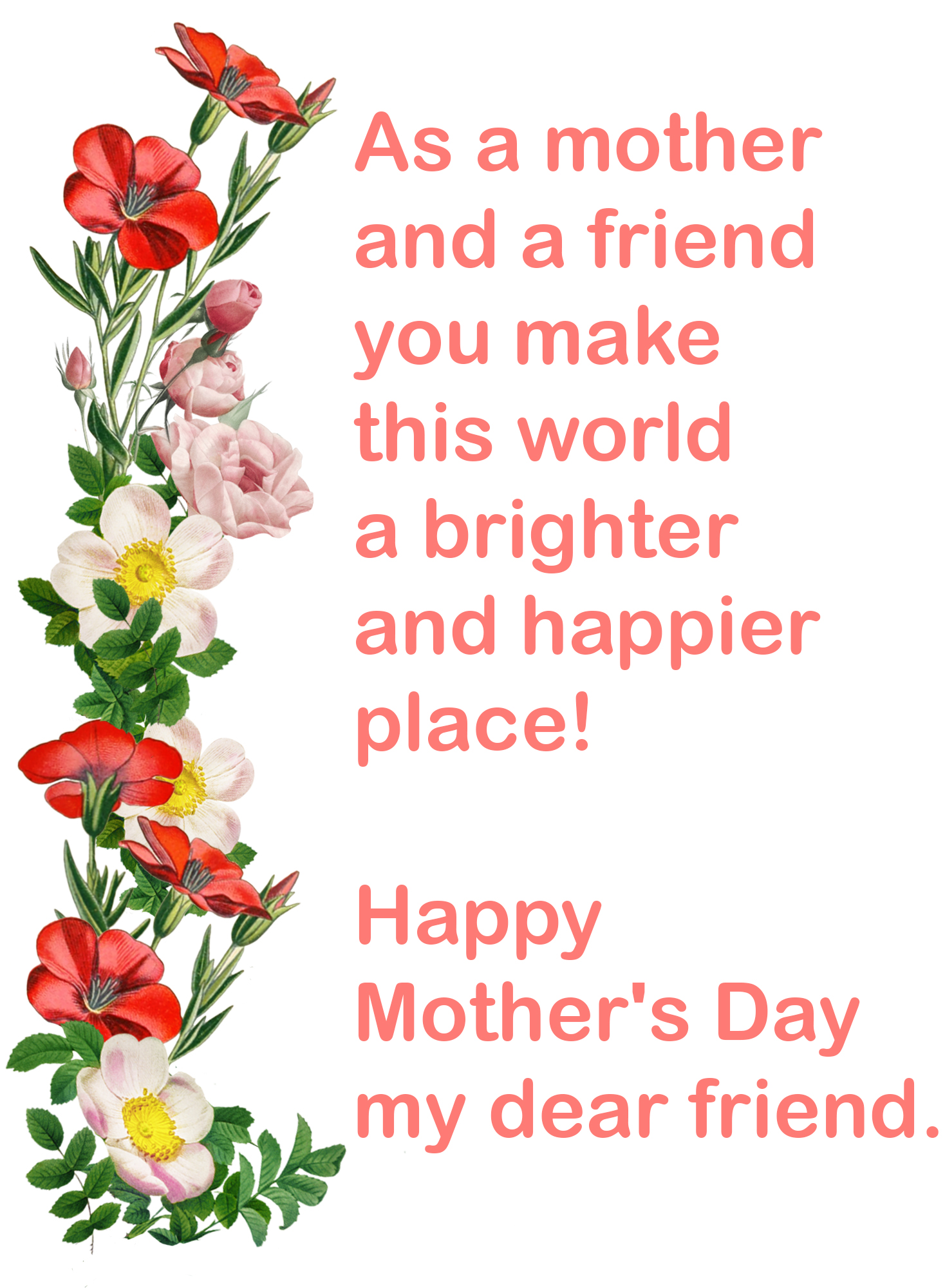happy Mother's day friend image