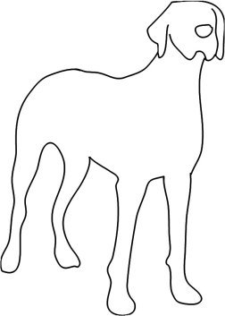 Silhouette clipart of Great Dane dog