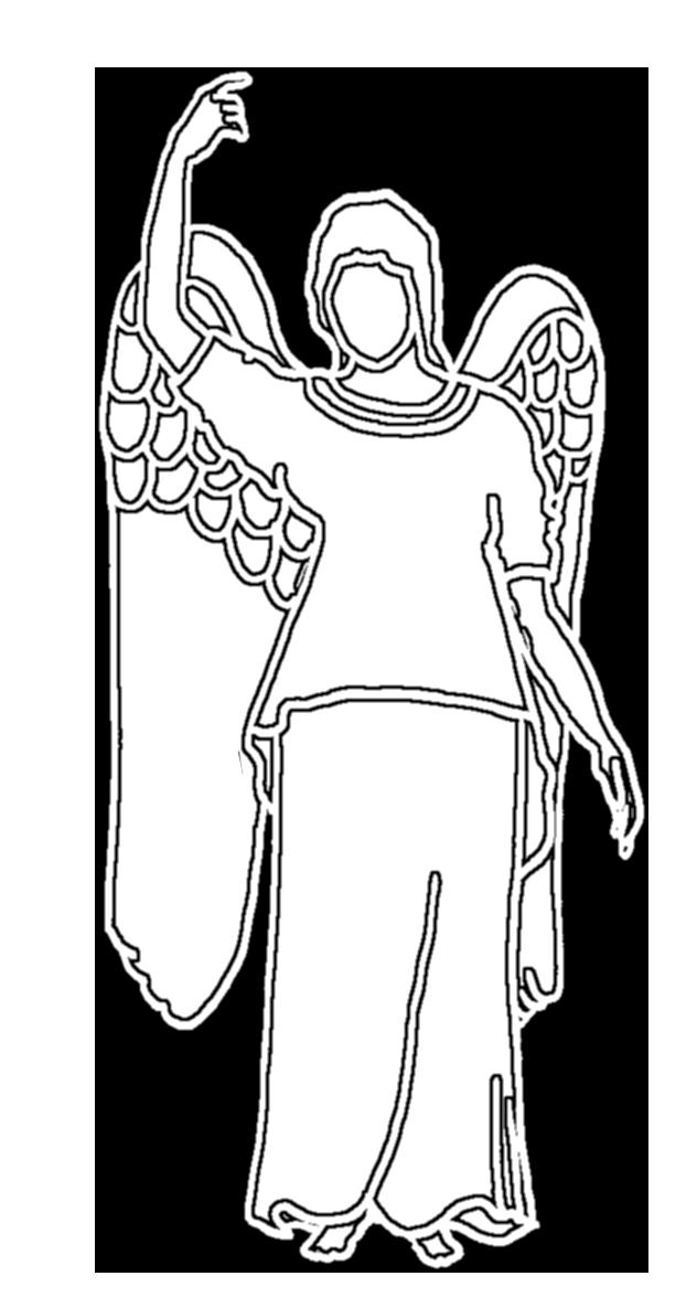 white angel silhouette