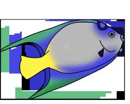 blue green fish