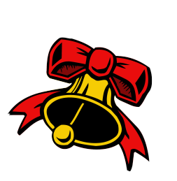 Christmas bell and red bow