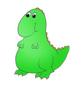 cute dinosaur green