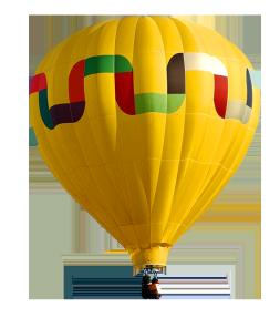 Hot air flying baloon