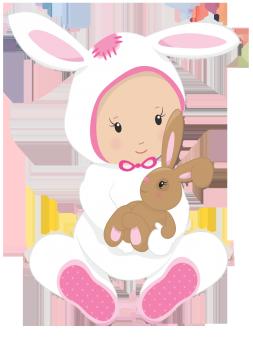 little Easter rabbit girl