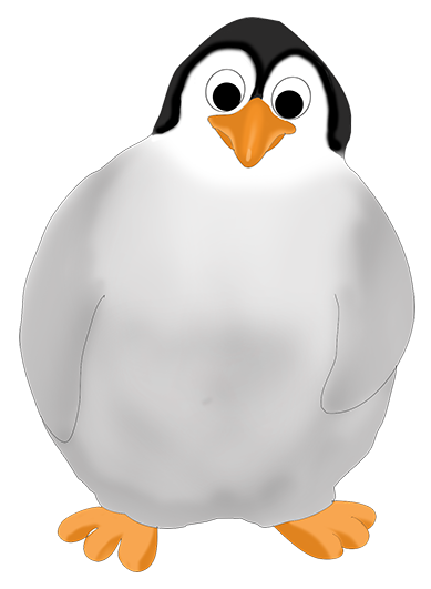Penguin baby drawing