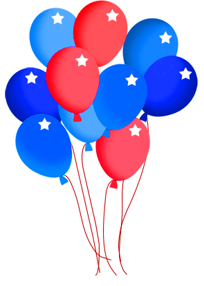 4th of Jully balloons