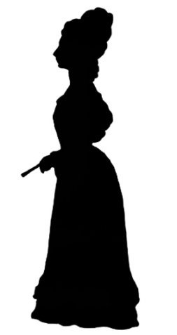 Victorian lady silhouette