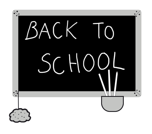 back to school clip art with text