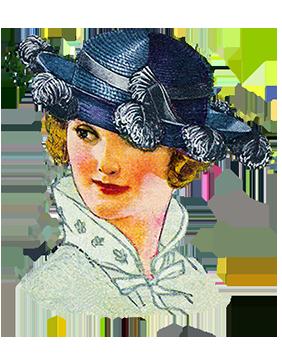 woman's fashion hat 1921