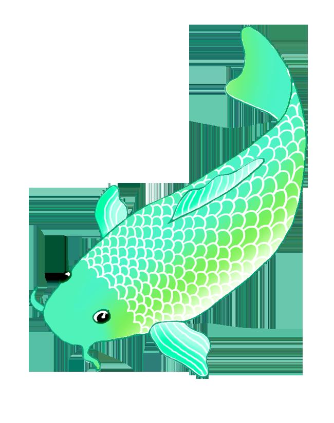 koi fish green