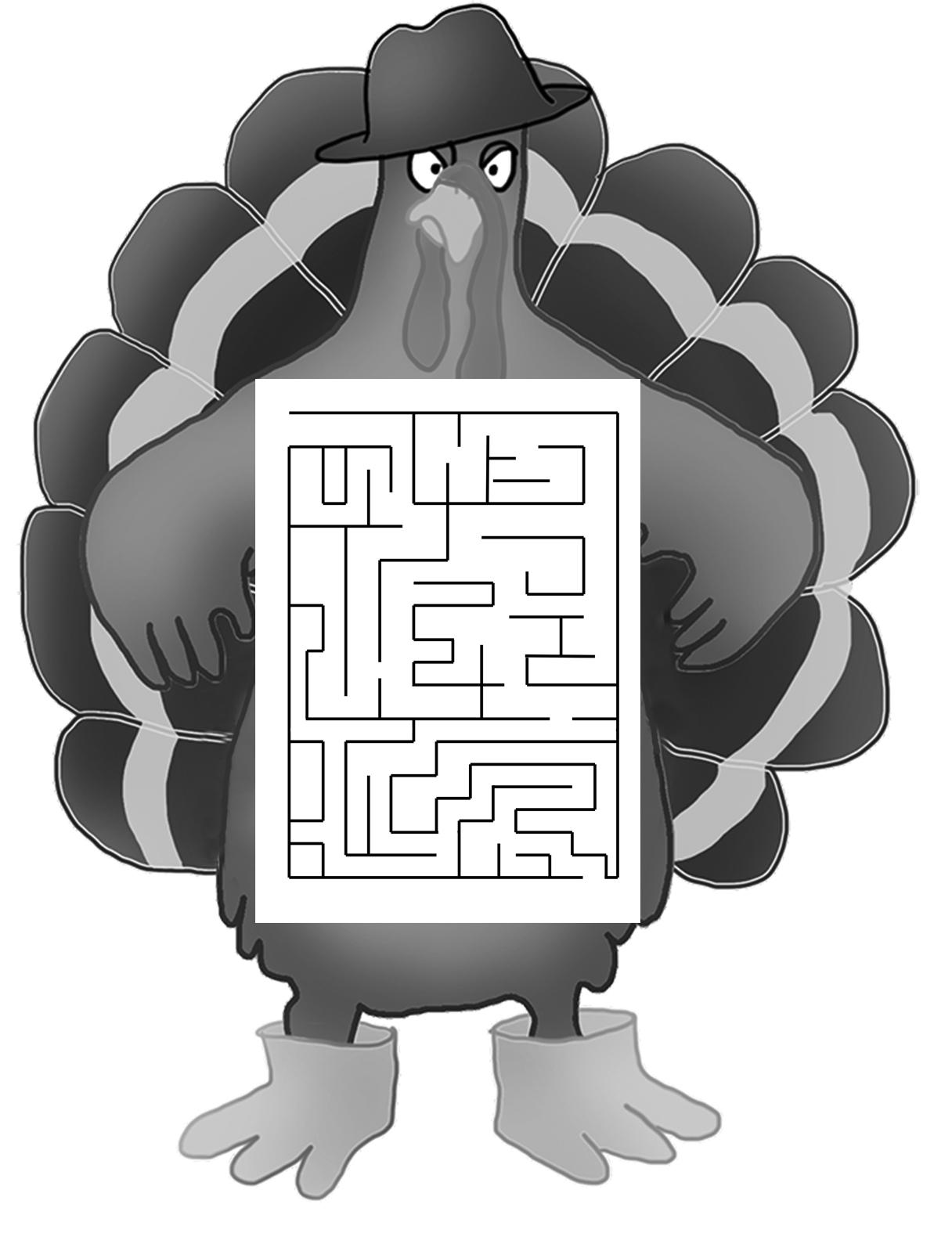 funny turkey maze