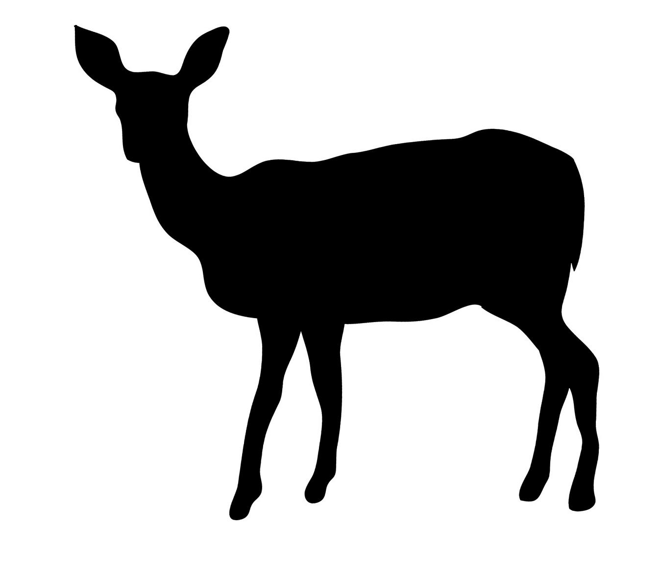 deer silhouette black frontal looking