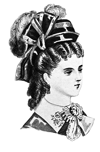 women's hat with bow and feathers
