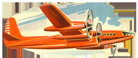 scrap image red airoplane