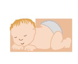 Tiny baby sleeping