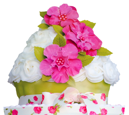 cup cake birthday flowers