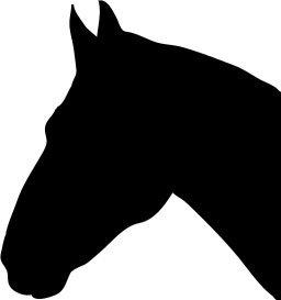 Black horse head silhouette clipart