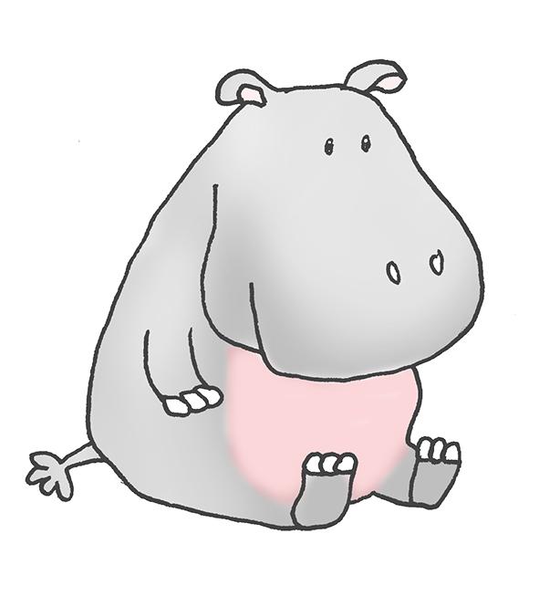 Hippo clip art baby