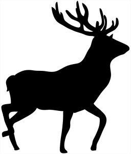 deer silhouette black stag