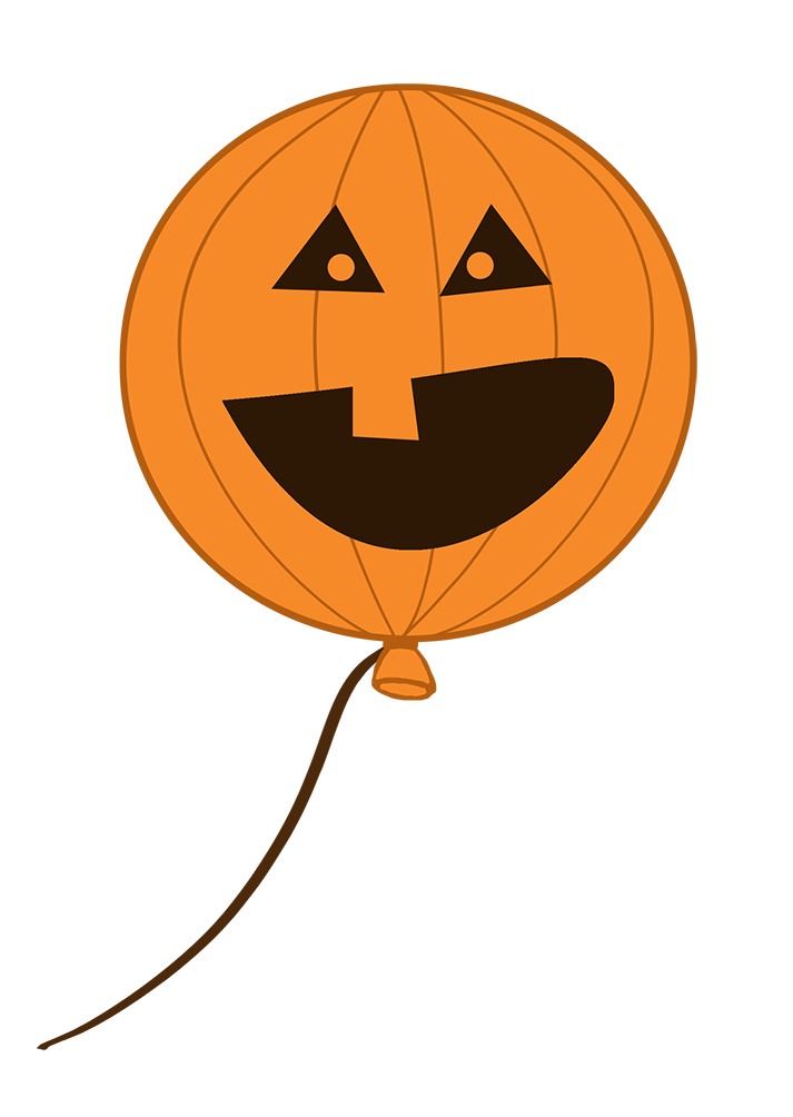 scary halloween balloon with face