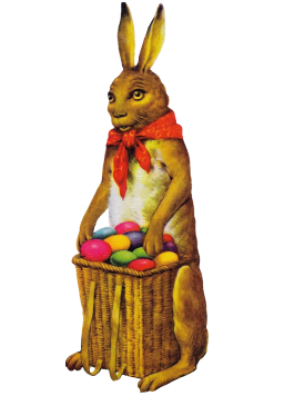 Old vintage Easter bunny