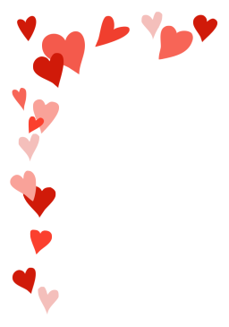 Heart frame for Valentine's Day greeting