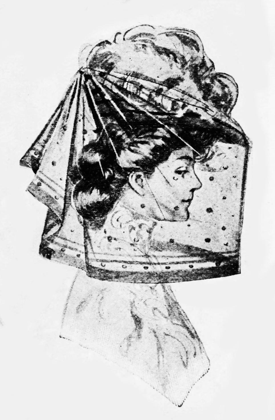 automobile veil Victorian era