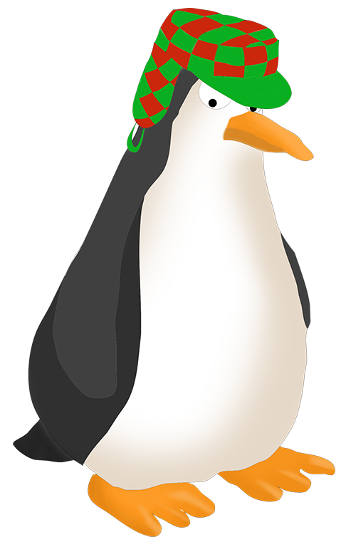 Angry penguin drawing
