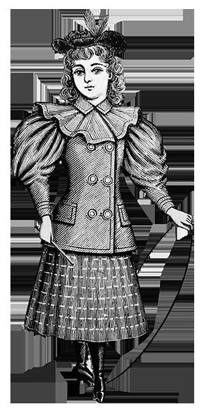1894 Victorian clothing for children child's blazer